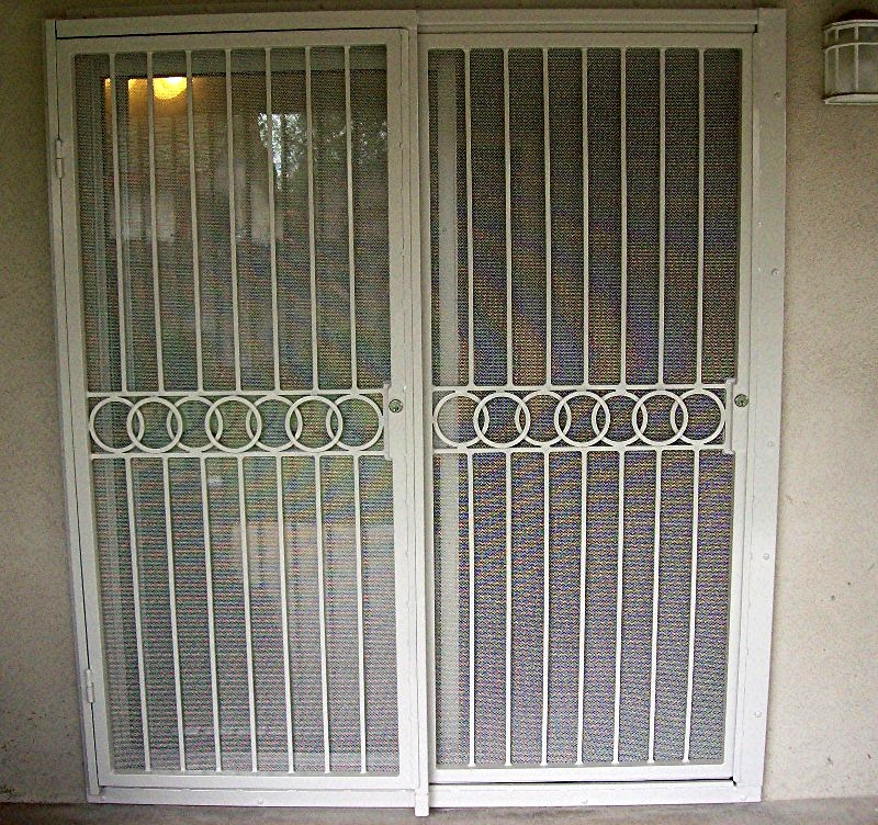 Door security patio door security pin for Security doors for french doors