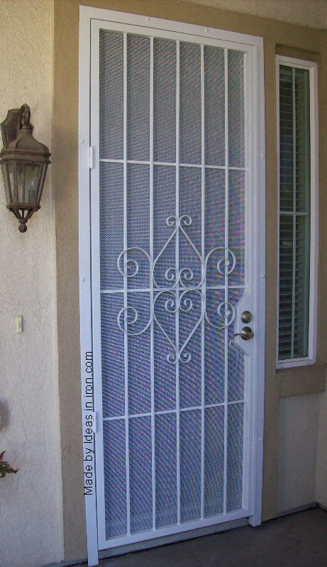 Front security door