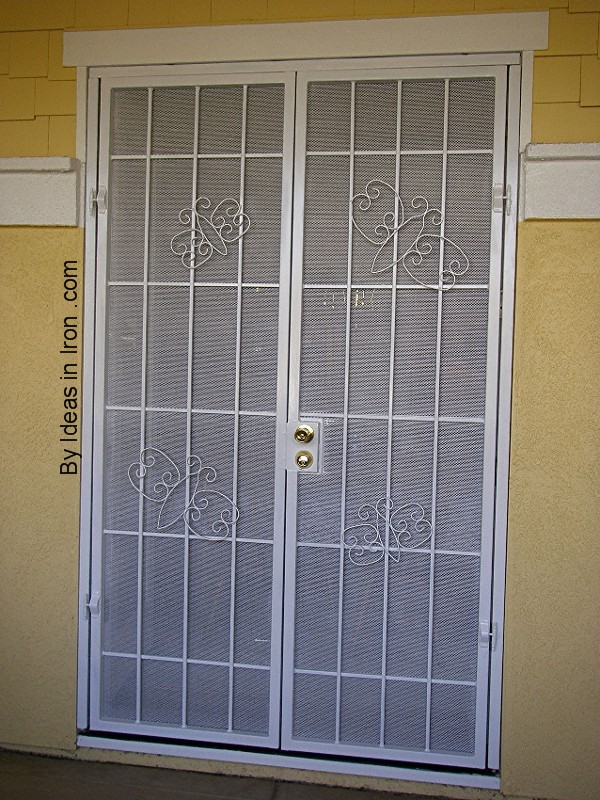 Security screen doors security screen door at home depot for Front door security